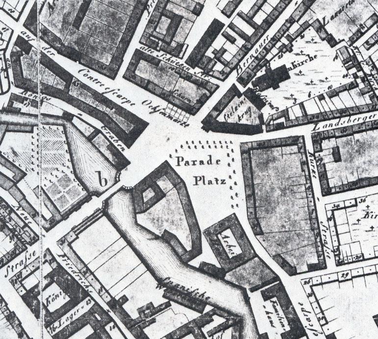 Alexanderplatz – 1804 – Stadtplanausschnitt
