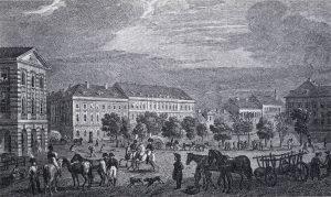Der südliche Teil des Alexanderplatzes um 1806