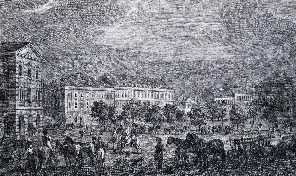 Alexanderplatz – 1806 (ca.) – Südlicher Teil