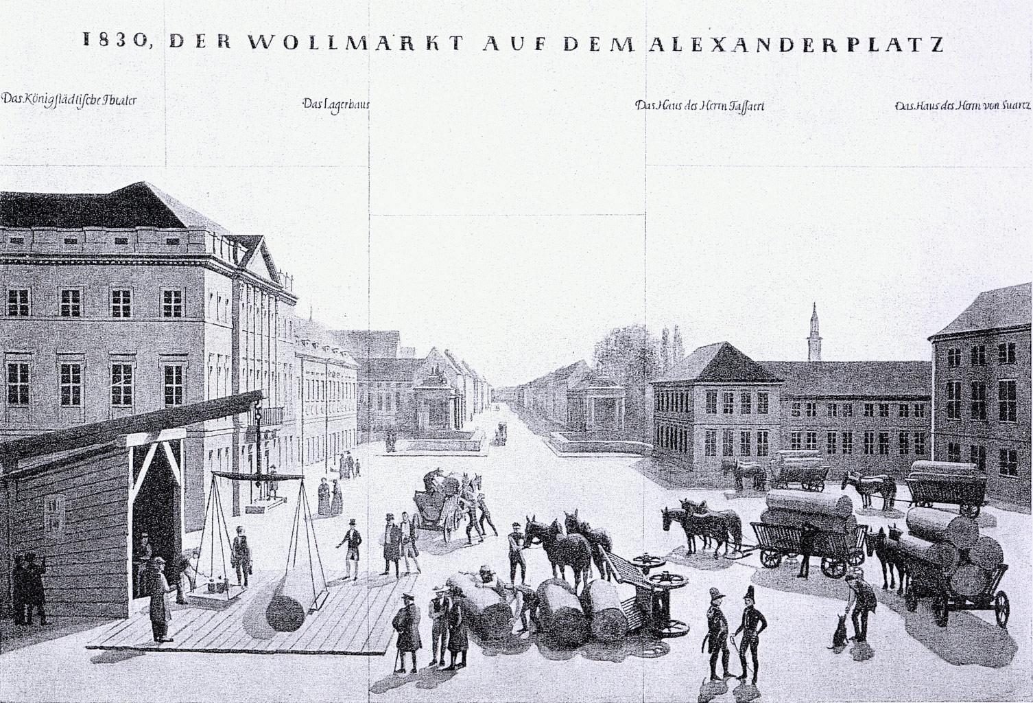 Alexanderplatz – 1830 (ca.) – Wollmesse
