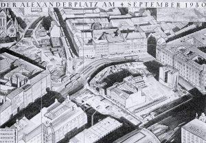 Karte des Alexanderplatzes 1930