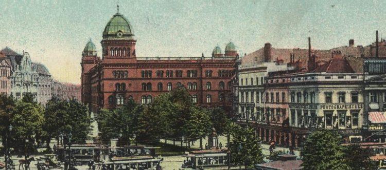 Das Polizeipräsidium am Alexanderplatz um 1908