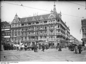 Grand-Hôtel am Alexanderplatz im Jahre 1910