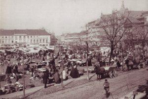 Markt auf dem Alexanderplatz um 1889