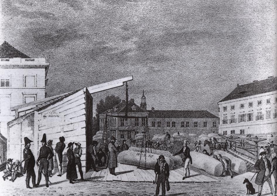 Alexanderplatz – 1830 – Wollmesse