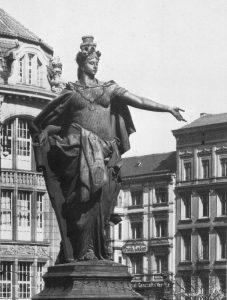 Die Berolina auf dem Alexanderplatz Anfang des 20. Jahrhunderts