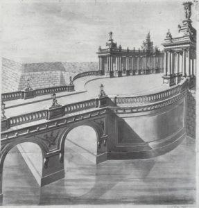 Königsbrücke und Königskolonnaden nach der Erbauung