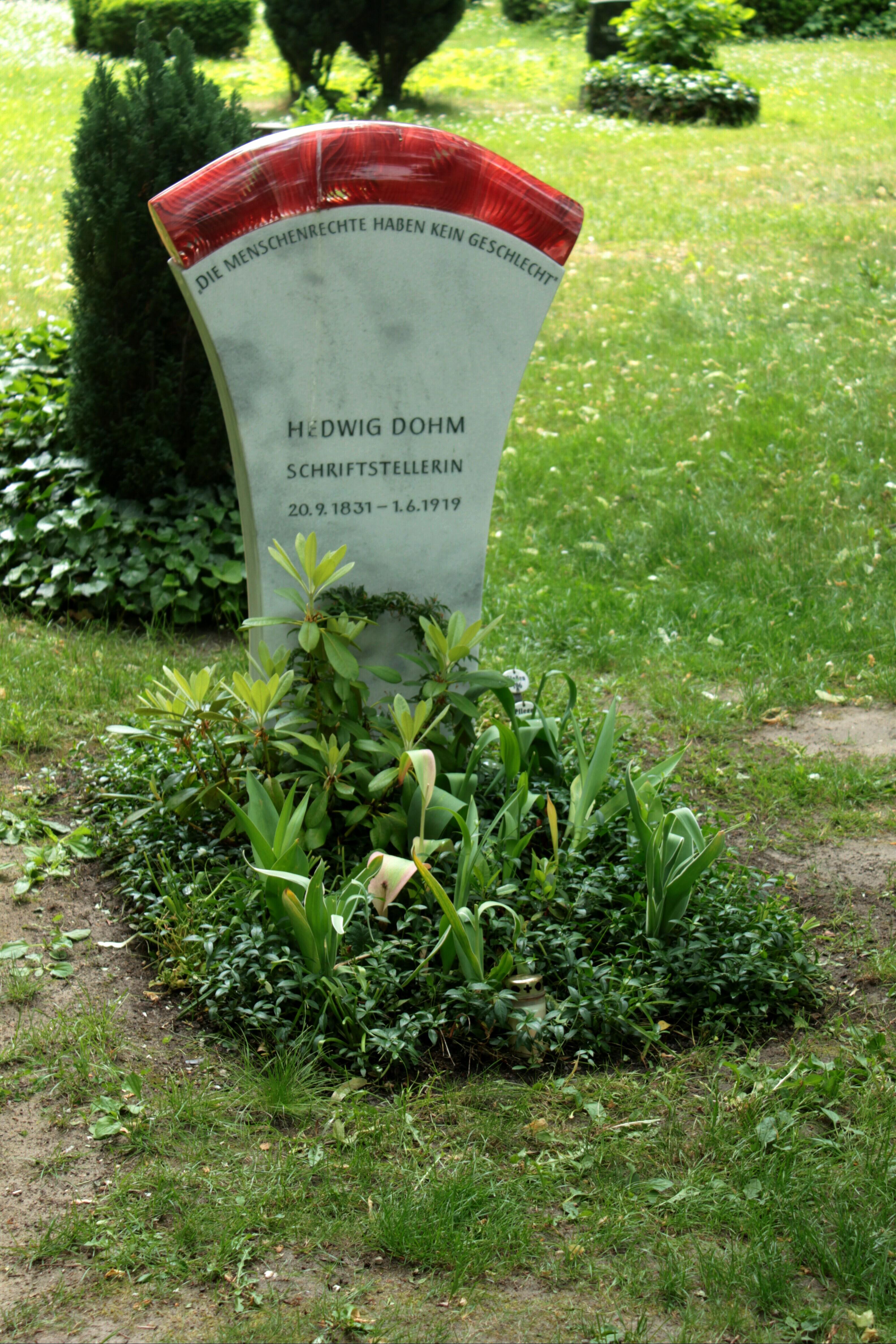 Hedwig Dohm – 2012 – Das Grab