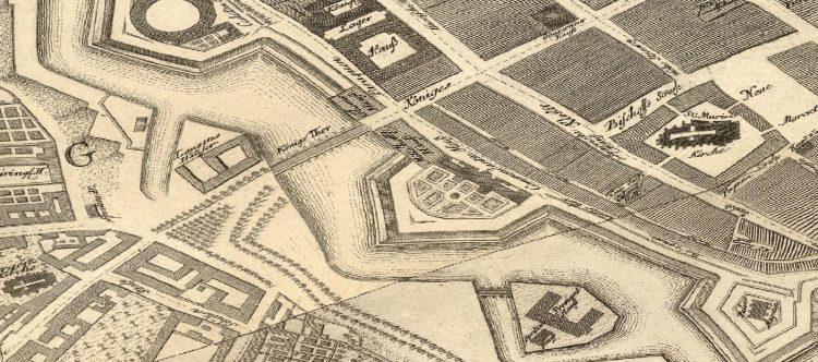Die Gegend um die Königsbrücke 1748