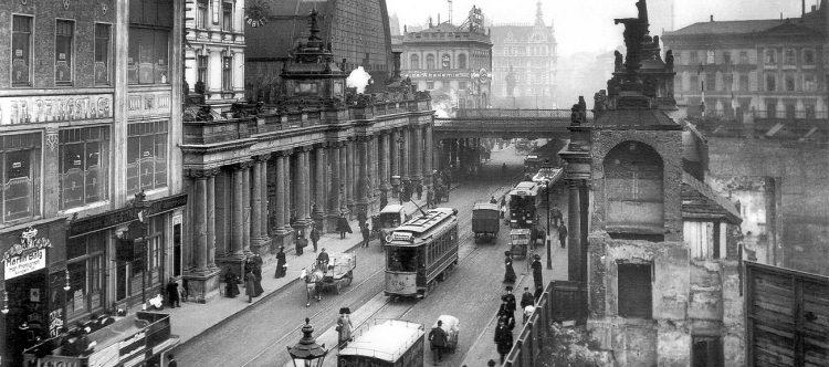 Die Königstraße im Jahr 1909