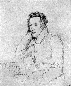 Heinrich Heine - Zeichnung von Franz Theodor Kugler