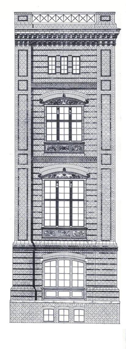 Bauakademie – 1832 – Fassadenaufriß nach Eduard Gärtner