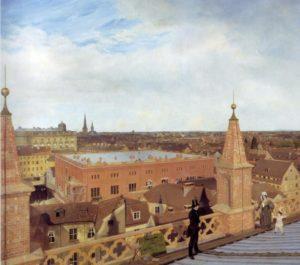 Die Bauakademie auf einem Gemälde von Eduard Gärtner (1834)
