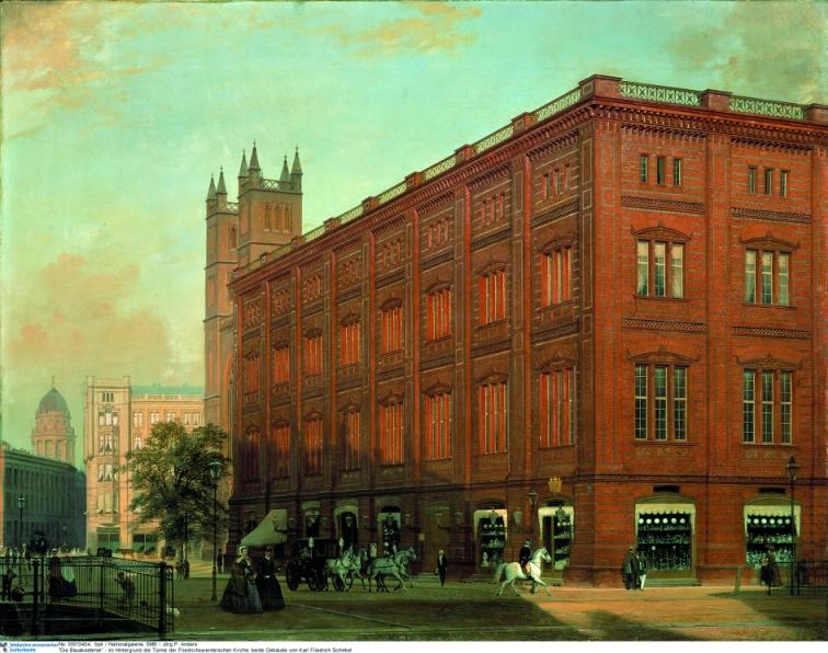 Bauakademie - Gemälde von Eduard Gärtner - 1868