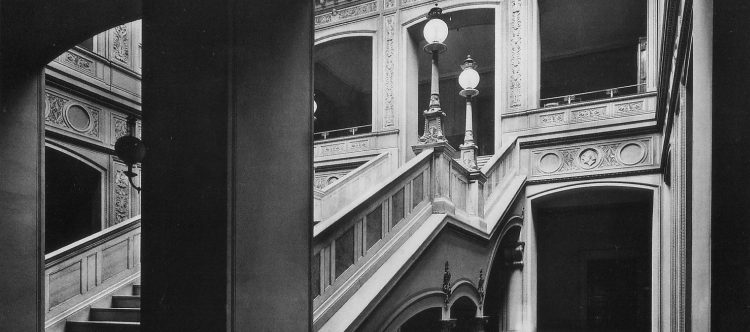Bauakademie - Treppenhaus - 1911 (Ausschnitt)