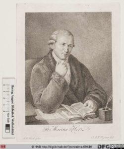 Marcus Herz, Stich von Johann Christoph Frisch und Jean Joseph François Tassaert