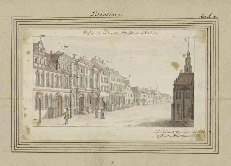 Zeichnung der Spandauer Straße, 1798