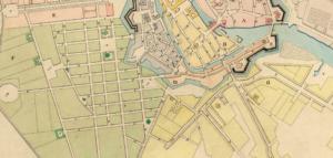 Plan der königlichen Residenzstadt Berlin von 1740 (Ausschnitt Spittelmarkt)