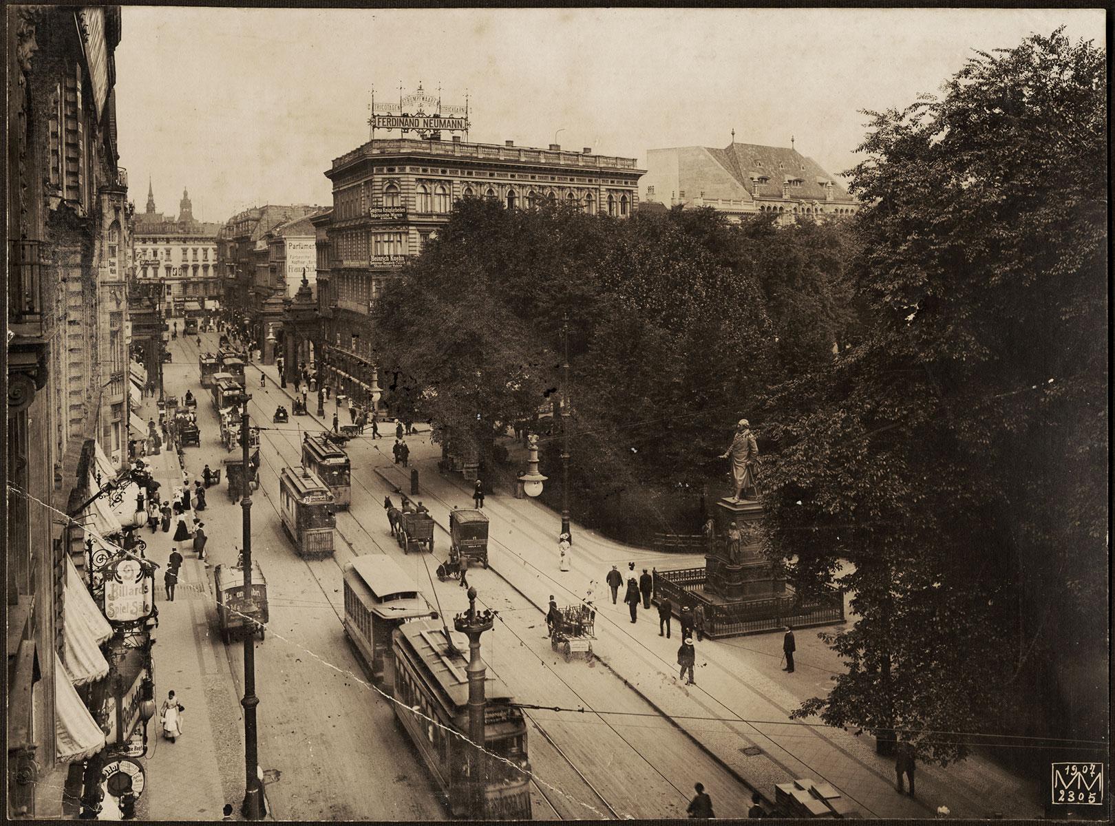 Leipziger Straße & Dönhoffplatz – 1907 – Mit Spittelkolonnaden