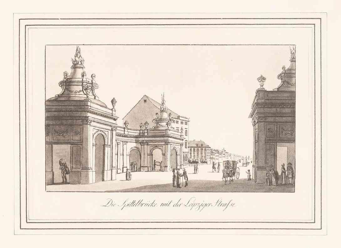 Spittelbrücke & Spittelkolonnaden – 1778 (ca.) – Mit Leipziger Straße