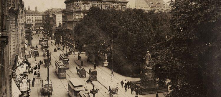 Leipziger Straße mit Dönhoffplatz, 1907 (Banner)