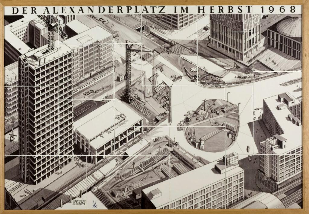 """Das Porzellanbild """"Der Alexanderplatz im Herbst 1968"""""""