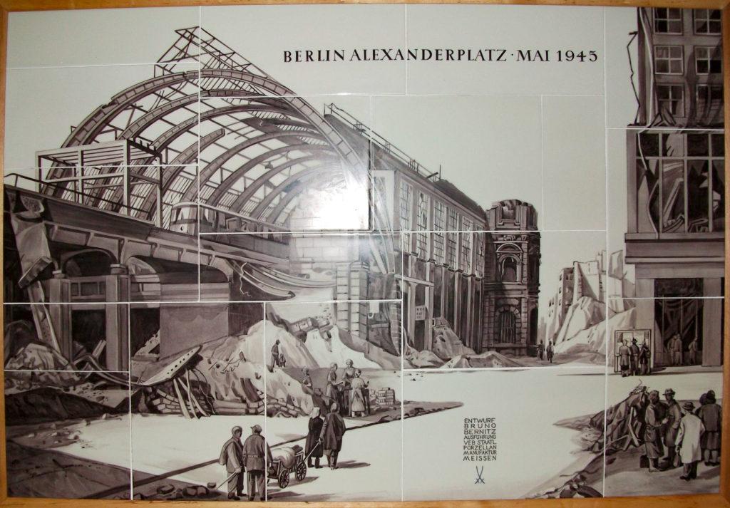 "Das Porzellanbild ""Berlin Alexanderplatz - Mai 1945"""