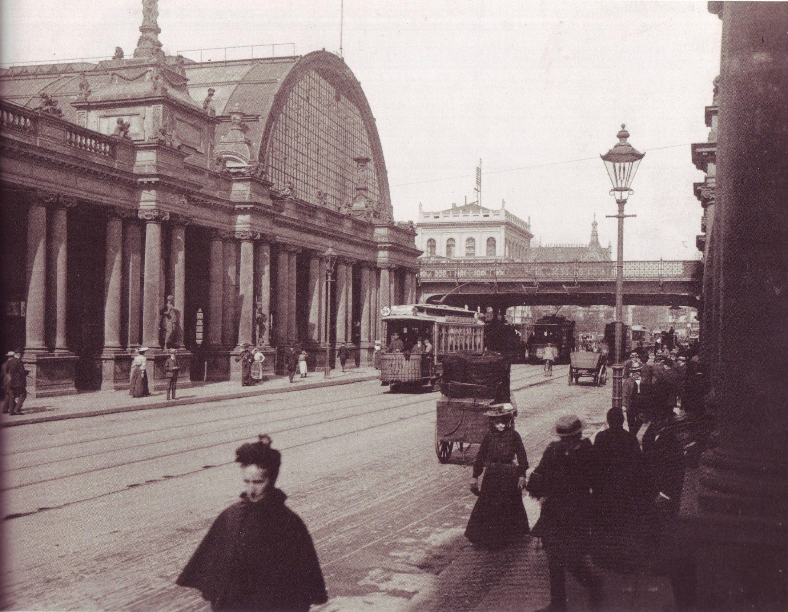 Königsbrücke & Königskolonnaden – 1904 – Mit Bahnhof Alexanderplatz