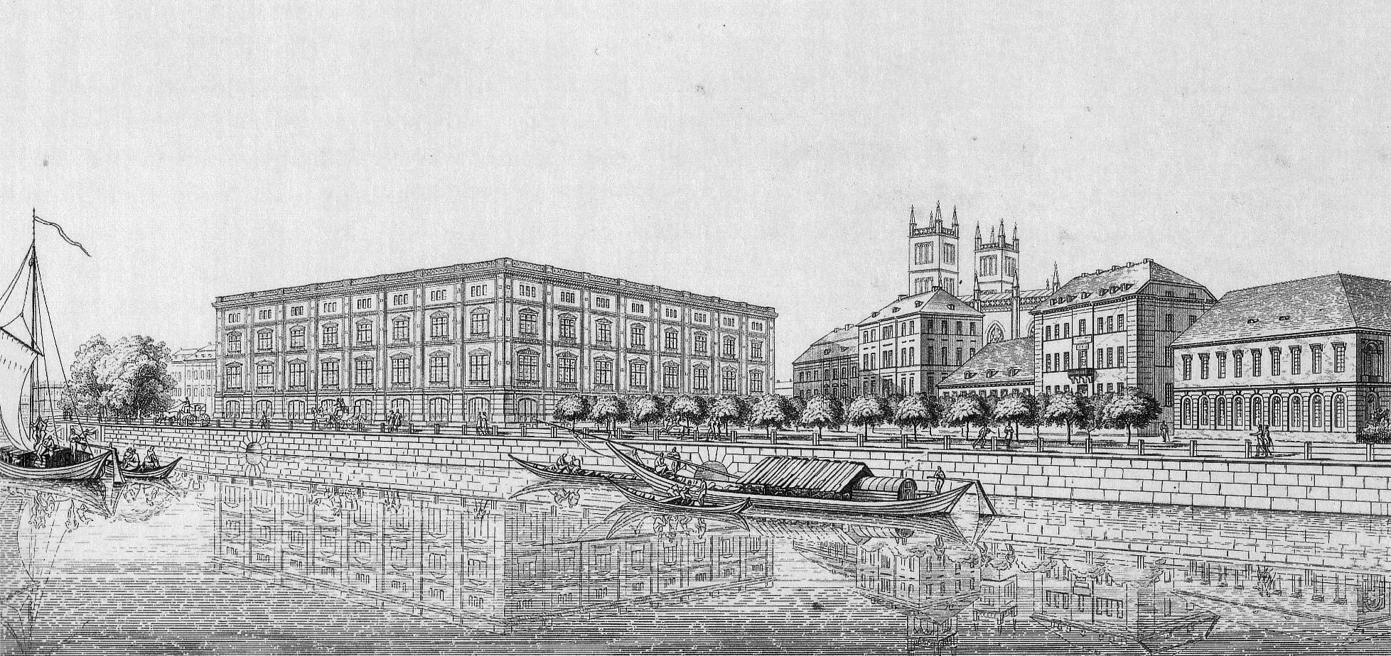 Bauakademie – 1831 – Planungszeichnung von Karl Friedrich Schinkel