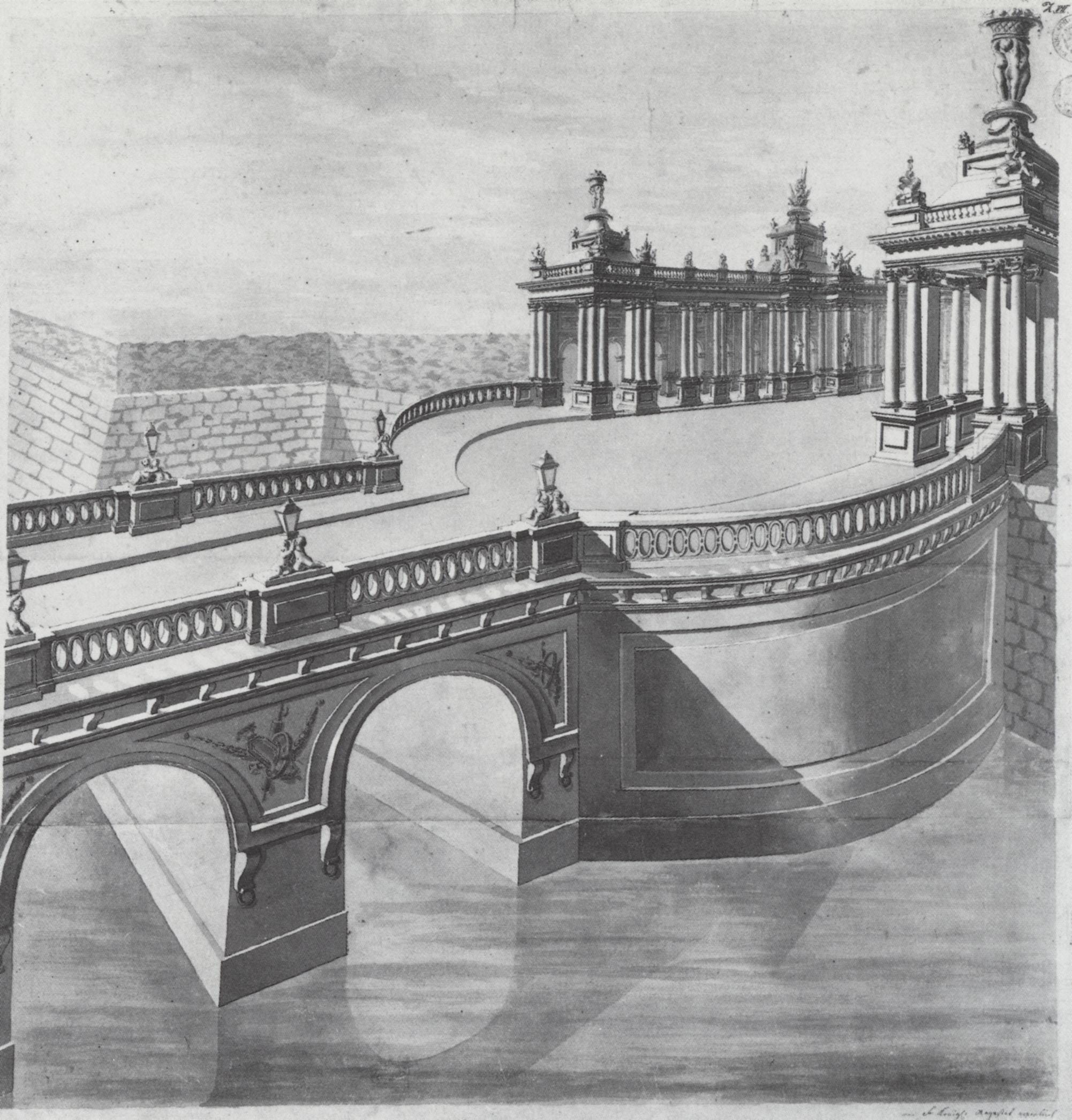 Königsbrücke & Königskolonnaden – nach der Erbauung