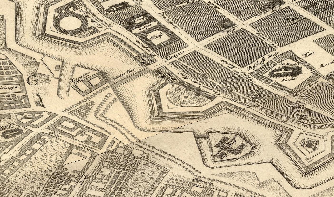 Königsbrücke & Königskolonnaden – 1748 – Die Gegend um die Königsbrücke