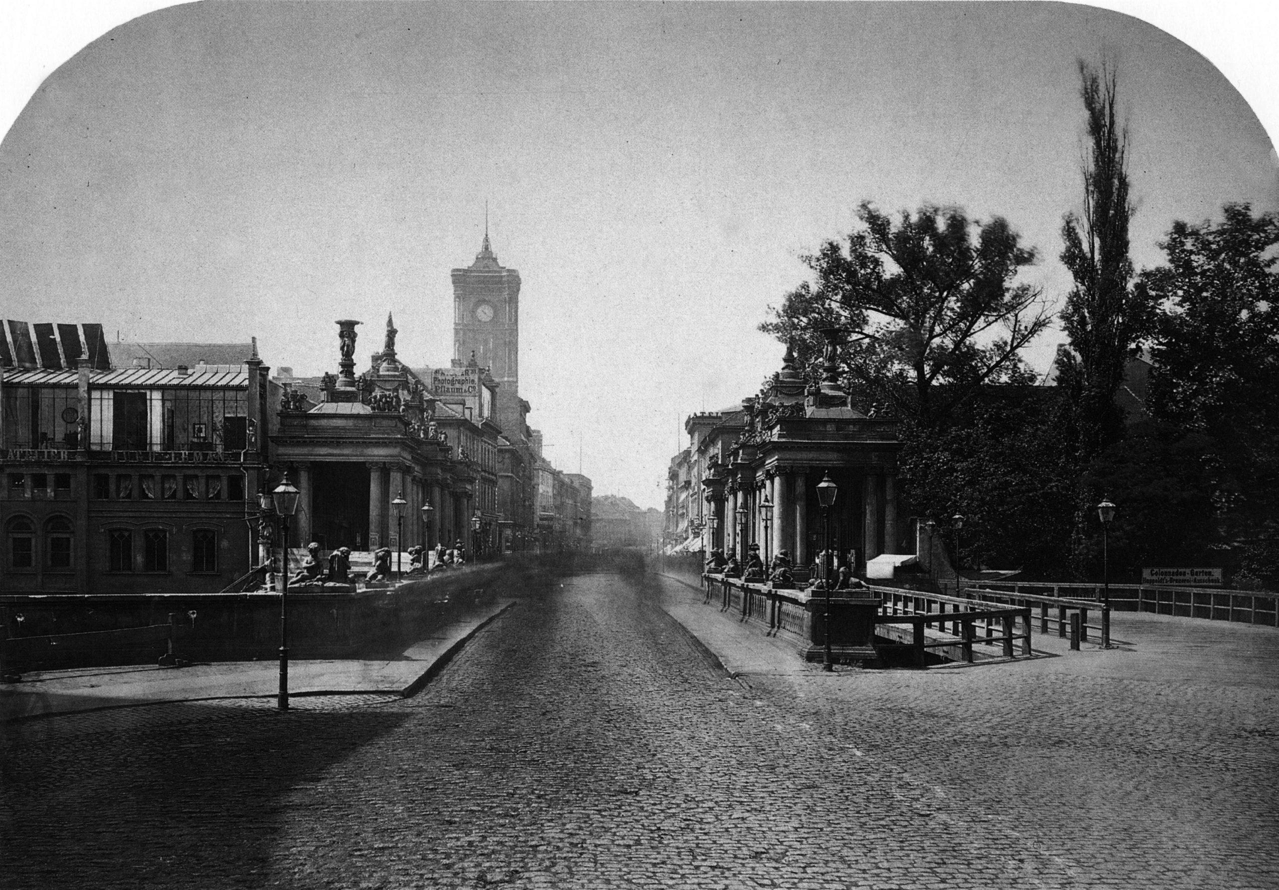 Königsbrücke & Königskolonnaden – 1872