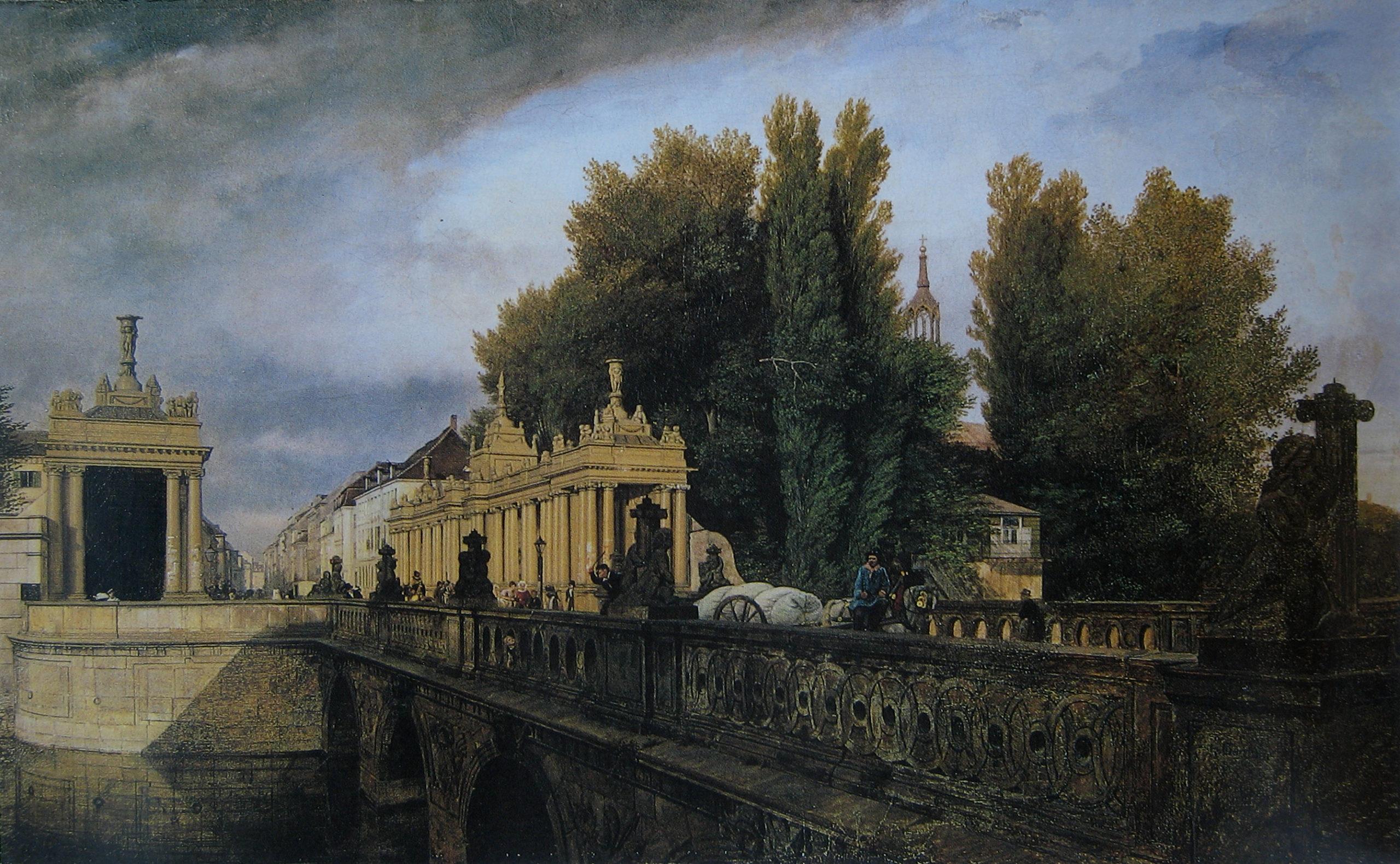 Königsbrücke & Königskolonnaden – 1835 – Gemälde von Eduard Gärtner
