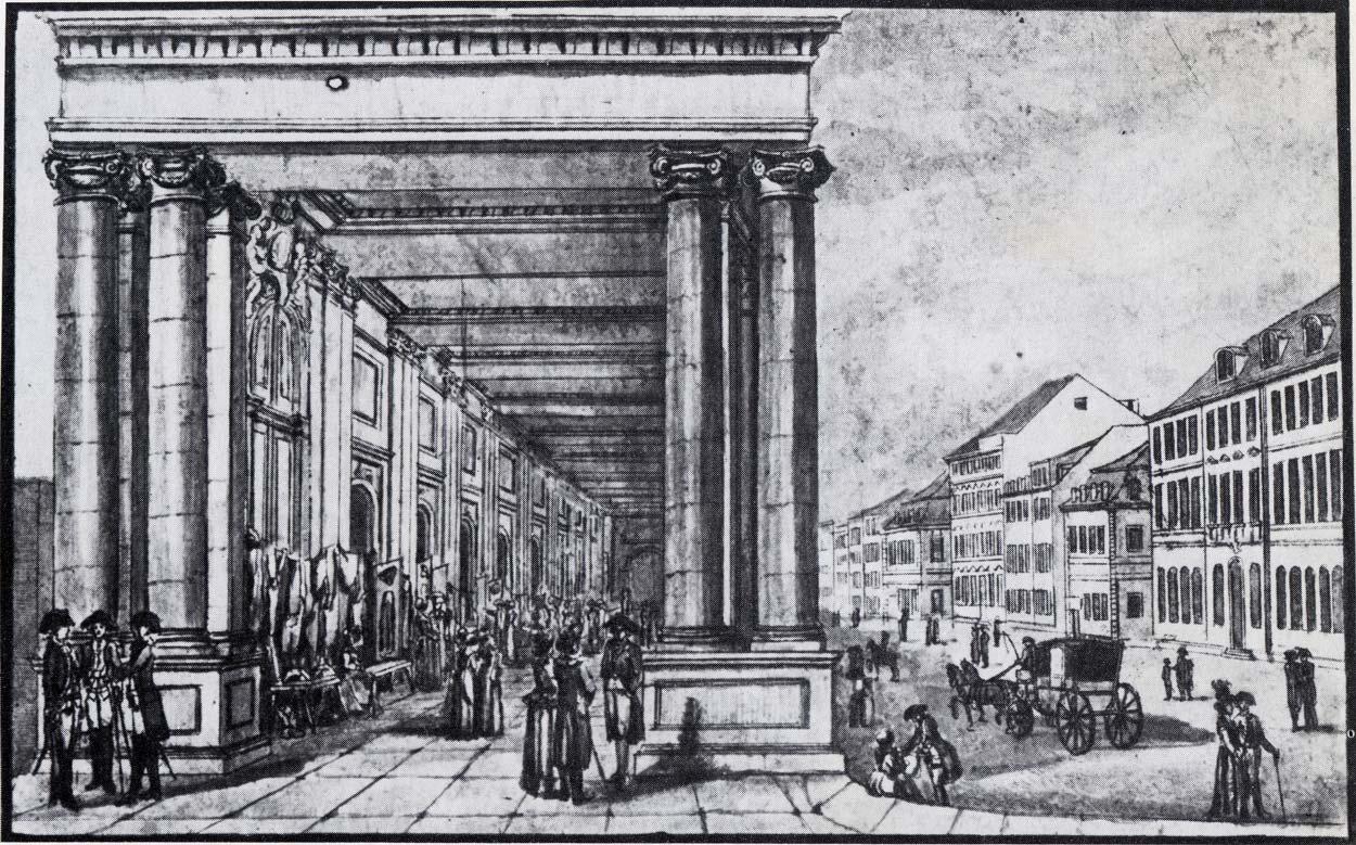 Königsbrücke & Königskolonnaden – 1784