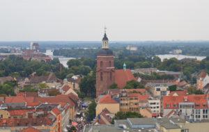 Blick vom Rathaus Spandau auf die Spandauer Nikolaikirche