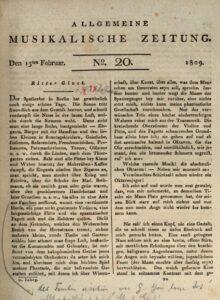 E. T. A. Hoffmann - 1809-02-15 - Ritter Gluck in der Allgemeinen Musikalischen Zeitung