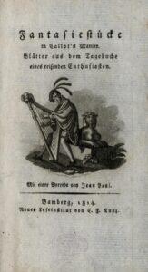 """E. T. A. Hoffmann - 1814 - Titelblatt der """"Fantasiestücke in Callot's Manier"""""""