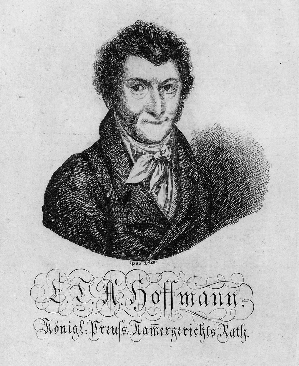 E. T. A. Hoffmann – 1819 – Selbstporträt