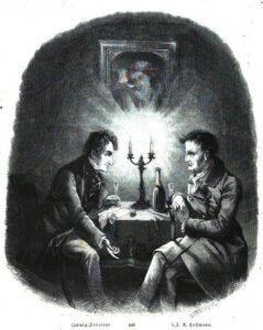 """E. T. A. Hoffmann & Ludwig Devrient in """"Die Gartenlaube"""" 1856"""