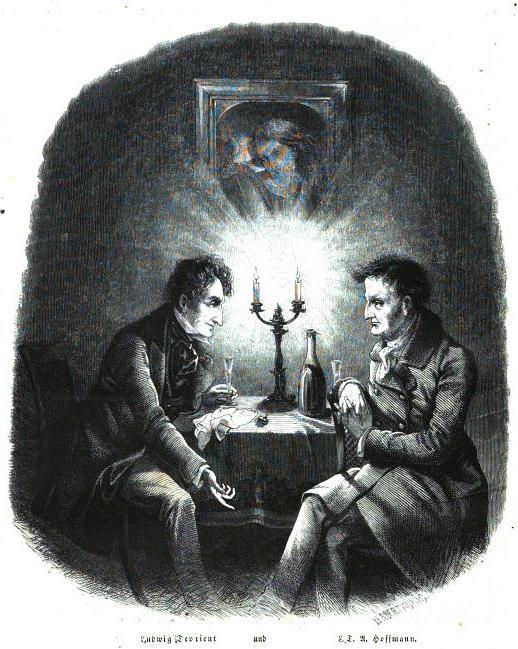 """E. T. A. Hoffmann – 1856 – E. T. A. Hoffmann & Ludwig Devrient in """"Die Gartenlaube"""""""