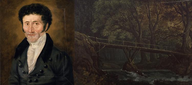 E. T. A. Hoffmann - Porträt und Karl Friedrich Schinkel - Undine: Entwurf der 7. Dekoration
