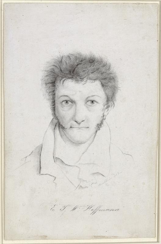 E. T. A. Hoffmann – unbekannter Zeitpunkt – Porträt von Ludwig Buchhorn