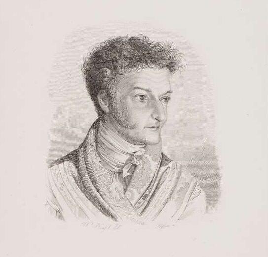 E. T. A. Hoffmann – unbekannter Zeitpunkt – Porträt von Wilhelm Hensel