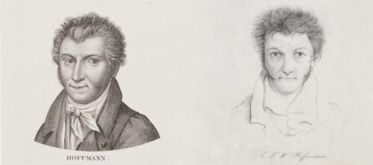 E. T. A. Hoffmann - Porträts von Riepenhausen und Buchhorn (Banner)