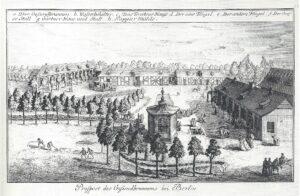 Der Gesundbrunnen um das Jahr 1770 - Prospekt von Johann Daniel Schleuen