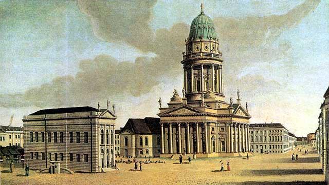 Gendarmenmarkt - 1788 - Gemälde von Carl Traugott Fechhelm
