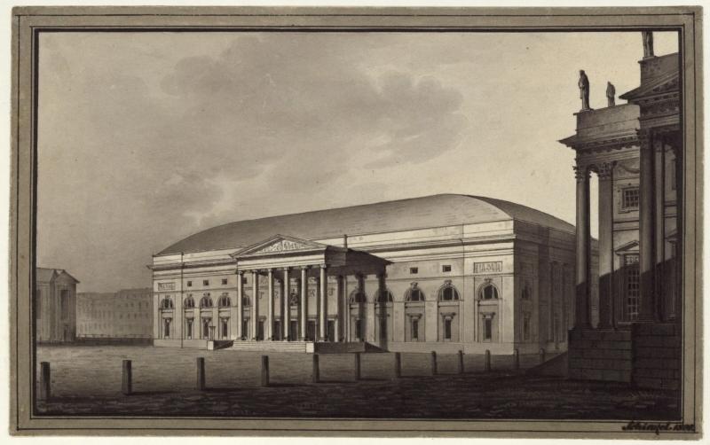 Das Nationaltheater auf dem Gendarmenmarkt 1800