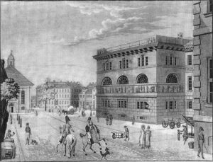Der Werdersche Markt um 1810 - Zeichnung von Friedrich August Calau