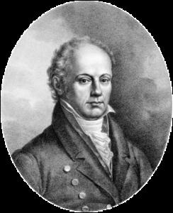 Franz Josef Gall - 1832 (vor) - Lithographie von Josef Lanzedelly