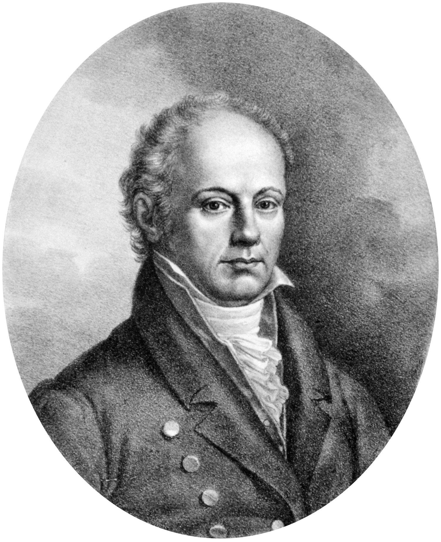Franz Josef Gall - 1832 (vor) - Lithography von Josef Lanzedelly